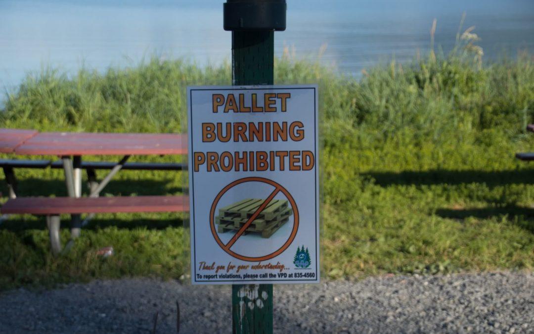 Pallet burning