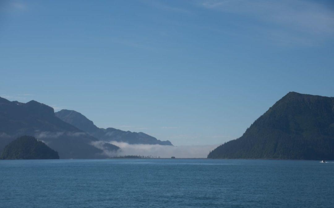 Brouillard à l'entrée des fjords