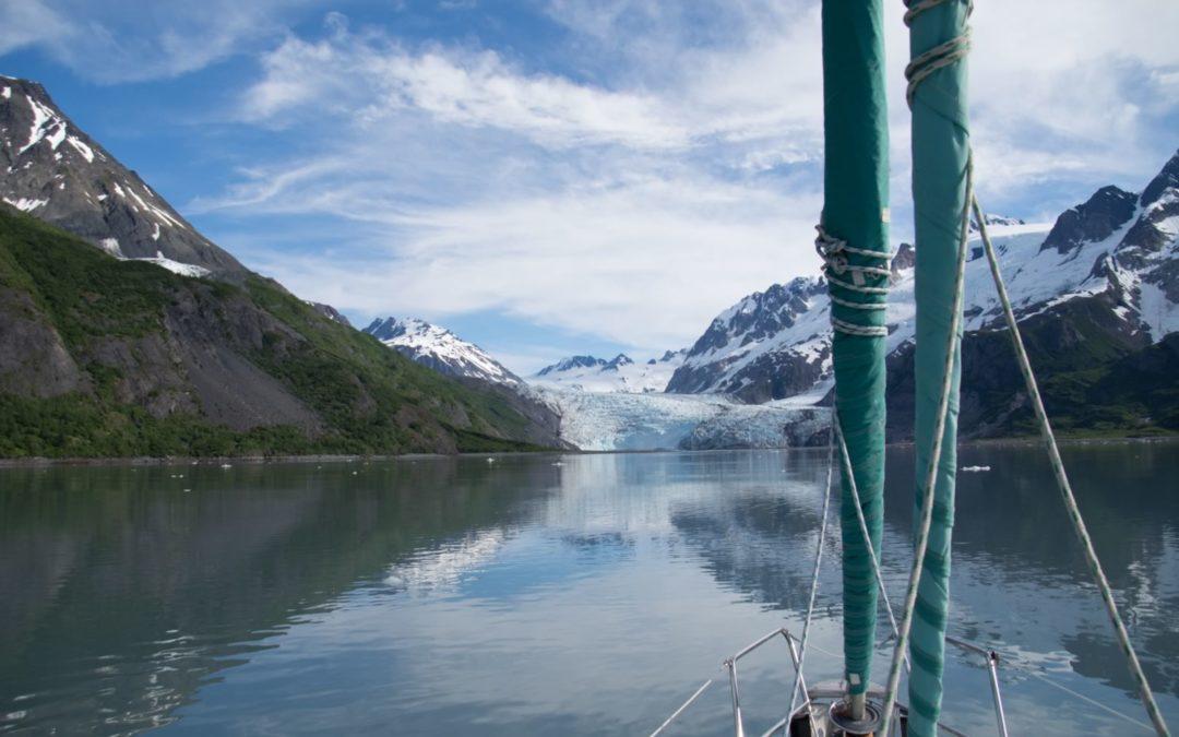Glacier dans la mer